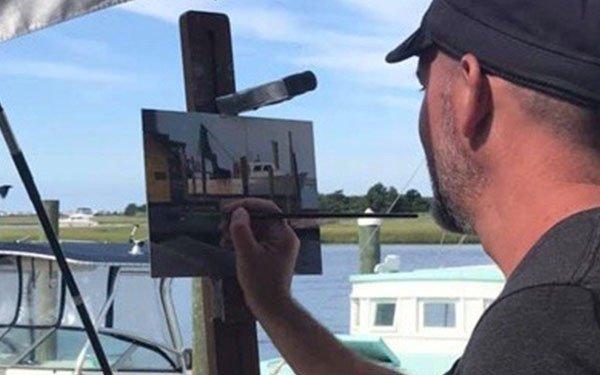 Painting at the Marina